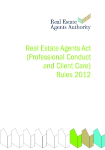 Real Estate Professional Conduct and Client Care Rules 2012