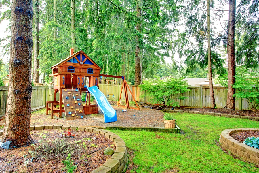 Kid friendly play structures