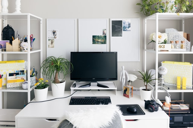 Beautifully decorated workspace