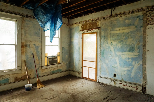 a fixer-upper home in the middle of renovations