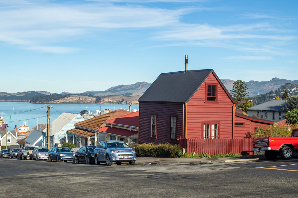 Homes in New Zealand, housing in a coastal town
