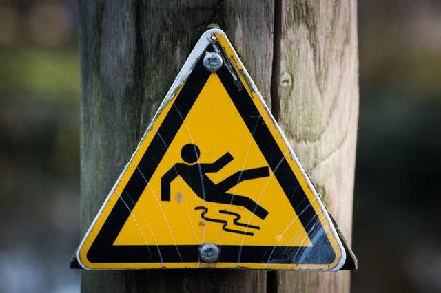 slippery floor warning